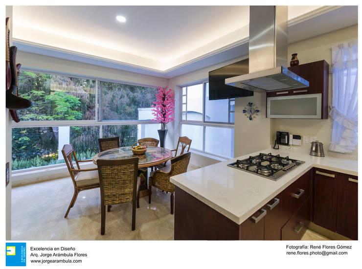 cocina: Cocinas equipadas de estilo  por Excelencia en Diseño