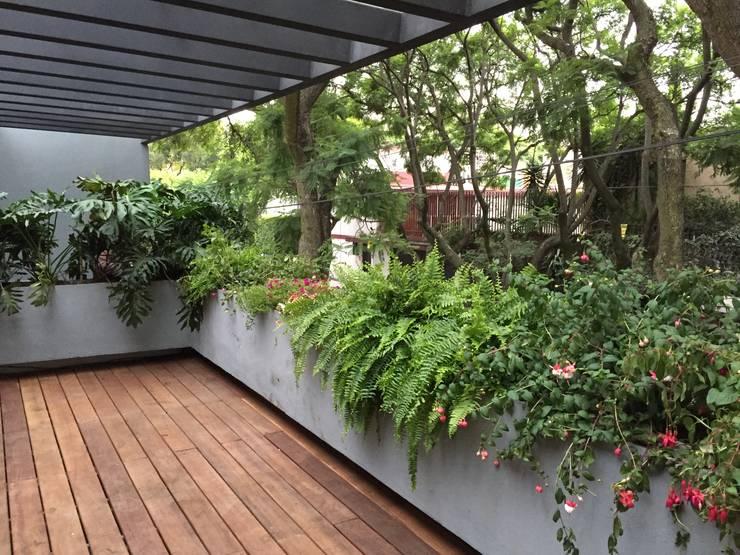 Moderner Balkon, Veranda & Terrasse von AWA arquitectos Modern Holz Holznachbildung