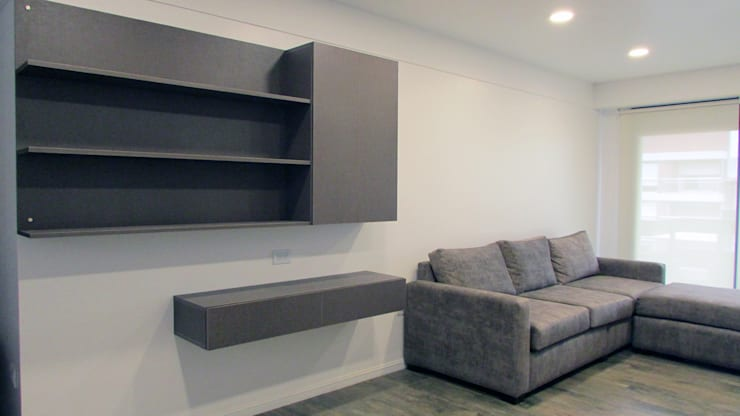 Remodelación sala de estar: Livings de estilo  por G7 Grupo Creativo