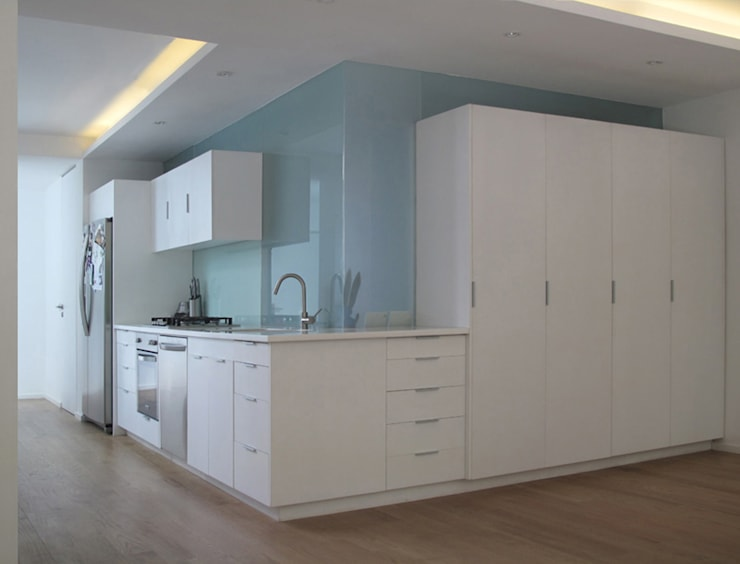 Cocina / Sala: Cocinas de estilo  por AWA arquitectos