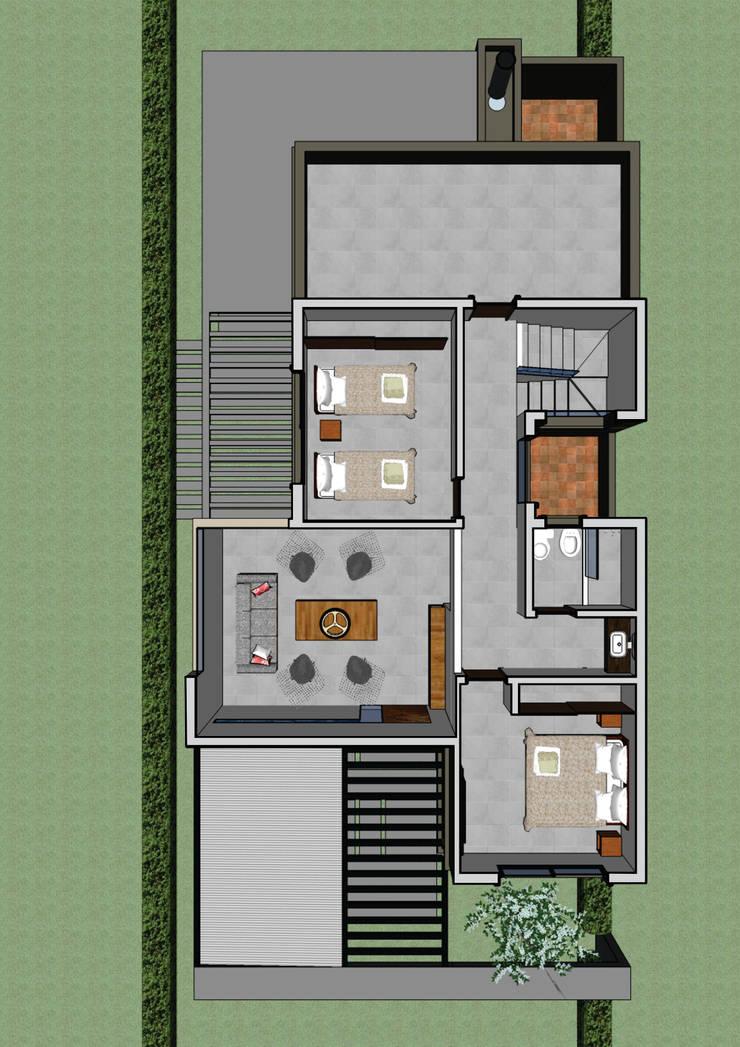 Planta baja: Casas de estilo  por PIC Arquitectura,