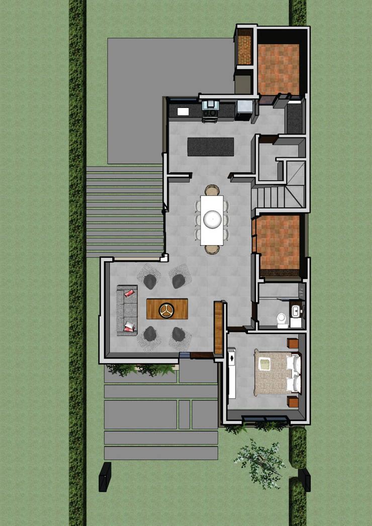 Planta alta: Casas de estilo  por PIC Arquitectura,