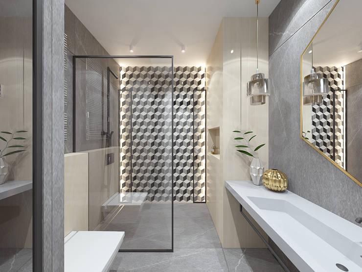Mysterious: Ванные комнаты в . Автор – Студия дизайна и визуализации интерьеров Ивановой Натальи.