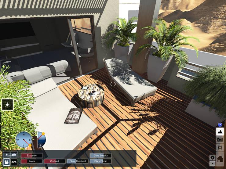 Terraza : Jardines de estilo  por Aida Tropeano & Asoc.,
