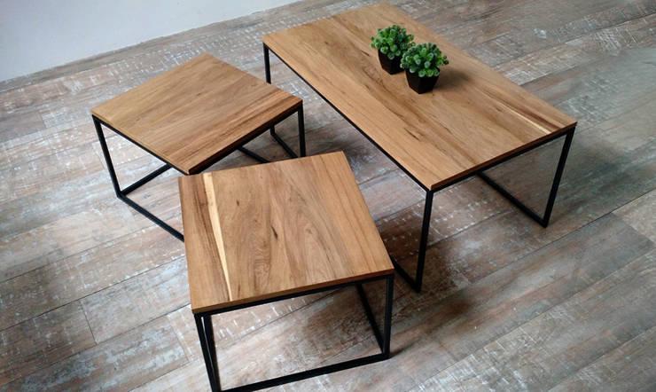 Mesa Ratona Nido de 3 elementos.: Livings de estilo  por Tienda Quadrat,
