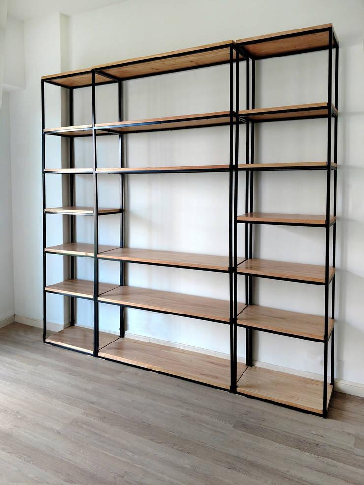 Bibliotecas Minimalistas para tu Hogar  y Oficina.: Estudio de estilo  por Tienda Quadrat