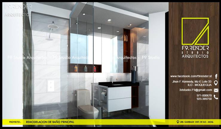 Projekty,  Łazienka zaprojektowane przez F9.studio Arquitectos, Nowoczesny Granit