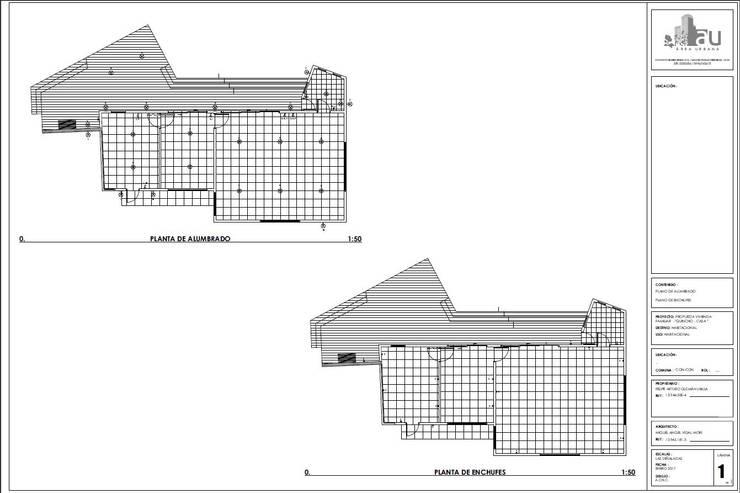 Planos de requerimientos eléctricos:  de estilo  por Área Urbana Arquitectos SpA
