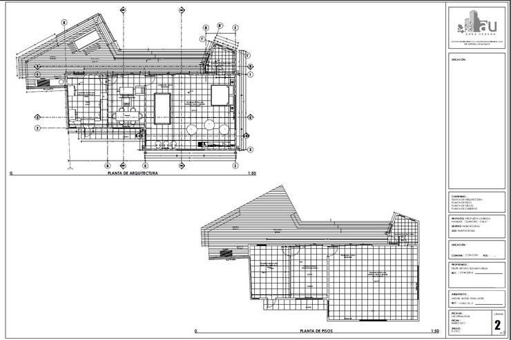 Plano de arquitectura y estructura:  de estilo  por Área Urbana Arquitectos SpA
