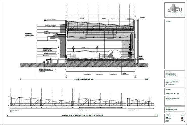 Detalle constructivo:  de estilo  por Área Urbana Arquitectos SpA