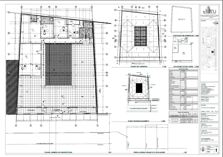 Plano de arquitectura:  de estilo  por Área Urbana Arquitectos SpA