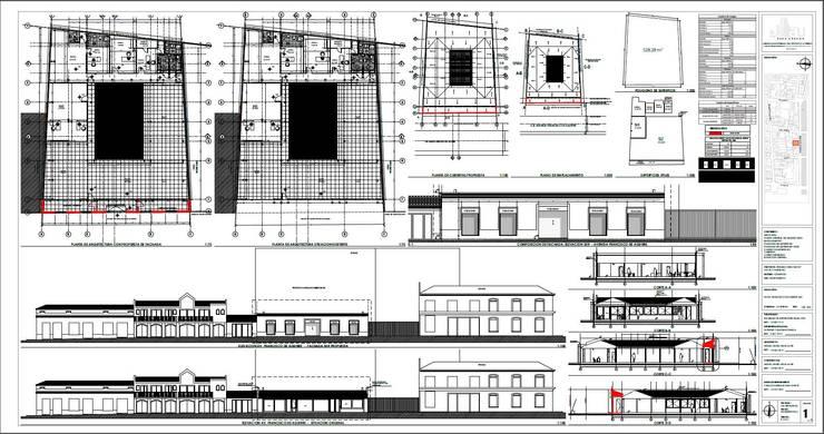 Plano para Consejo de Monumentos:  de estilo  por Área Urbana Arquitectos SpA