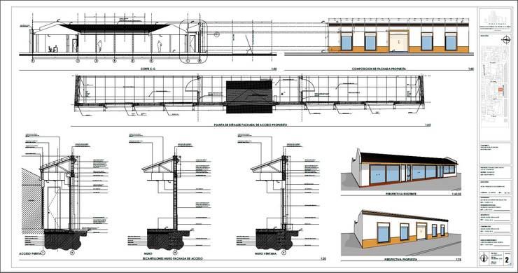 Plano para Consejo de Monumentos 2:  de estilo  por Área Urbana Arquitectos SpA