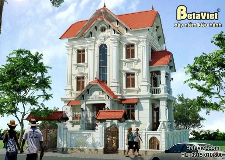Phối cảnh mẫu nhà biệt thự đẹp 3 tầng Cổ điển BT13375:   by Công Ty CP Kiến Trúc và Xây Dựng Betaviet