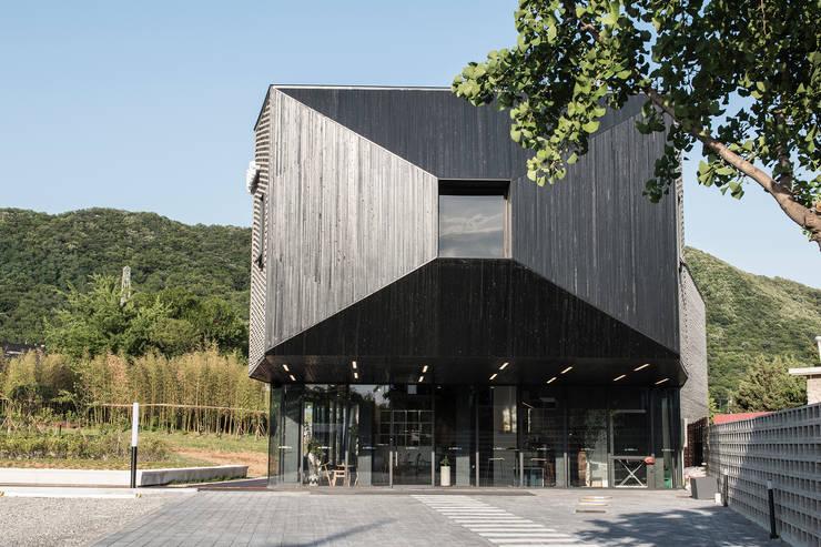 캔버스_너의배경이되는건축_몽트리파크: AAG architecten의  주택,모던 우드 우드 그레인