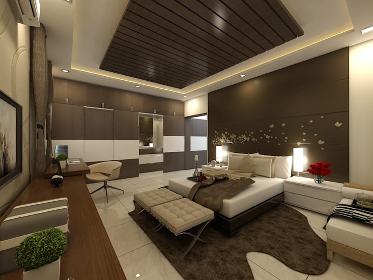 غرفة نوم تنفيذ Regalias India Interiors & Infrastructure