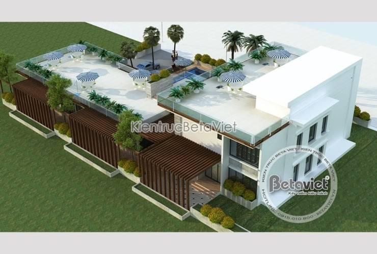 Phối cảnh mẫu thiết kế biệt thự hiện đại 3 tầng đẹp KT17033:   by Công Ty CP Kiến Trúc và Xây Dựng Betaviet