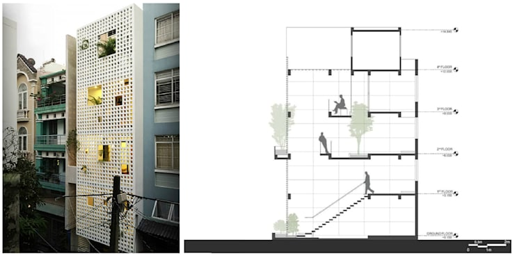 Q10 House:  Nhà by Studio8 Architecture & Urban Design