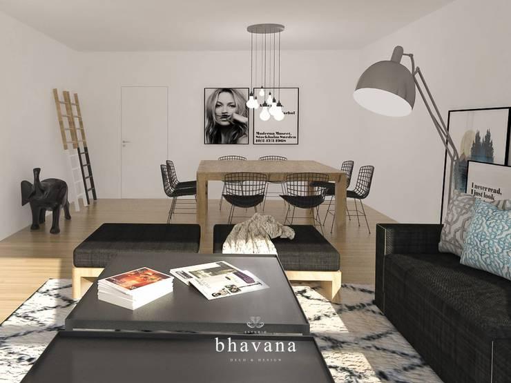 Obra El Sausalito - Diseño Integral Casa Country: Livings de estilo  por Bhavana,