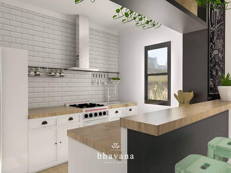 Obra El Sausalito – Diseño Integral Casa Country: Cocinas de estilo  por Bhavana,