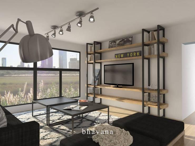 Obra El Sausalito – Diseño Integral Casa Country: Livings de estilo  por Bhavana,