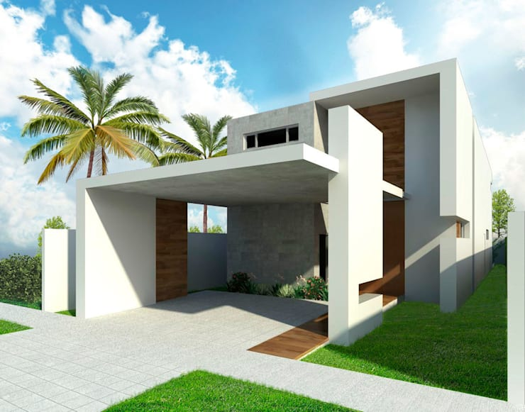 Vista de Calle: Casas unifamiliares de estilo  por Facere Arquitectura, Moderno Concreto reforzado
