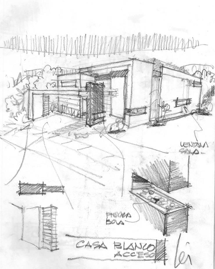 Boceto Original, vista de calle:  de estilo  por Facere Arquitectura, Moderno