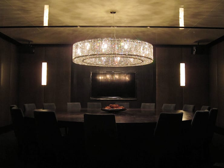 Crystal Lighting Fixture:  餐廳 by ABOON custom lightings