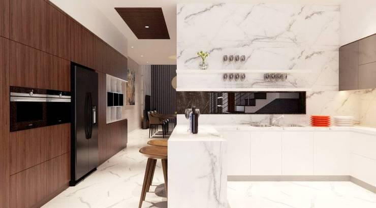 Dự án Galleria:  Nhà bếp by thiết kế kiến trúc CEEB