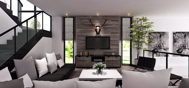 Living room by Lighthouse Architect Indonesia, Modern