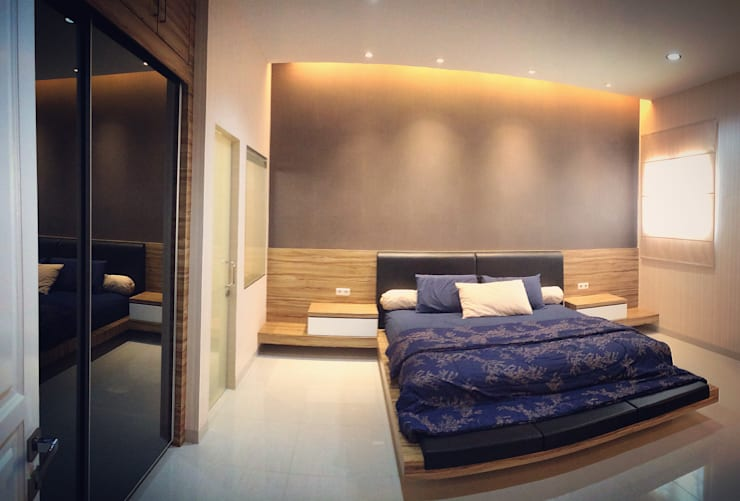 W House Cemara Asri, Medan City:  Kamar Tidur by Lighthouse Architect Indonesia