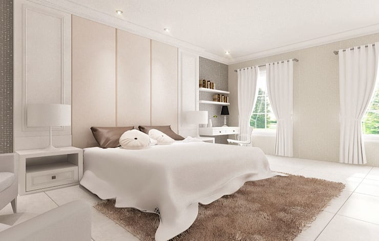 Master Room Concept:  Kamar Tidur by Lighthouse Architect Indonesia