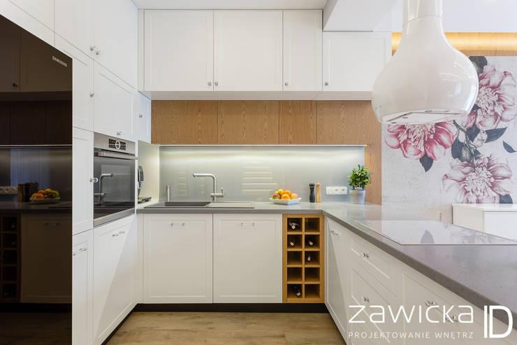 Cozinhas modernas por ZAWICKA-ID Projektowanie wnętrz