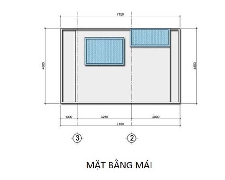 Nhà phố 3 tầng:   by Công ty cổ phần Architect Việt