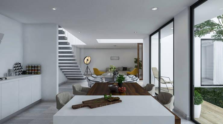 Interior: Comedores de estilo  por Mexikan Curious