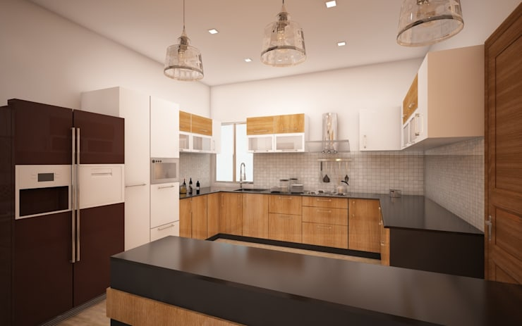 Kitchen: modern Kitchen by Regalias India Interiors & Infrastructure