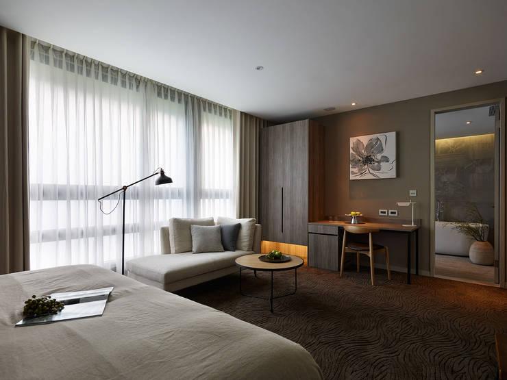 森之旅店_靜石:  飯店 by 沐光植境設計事業