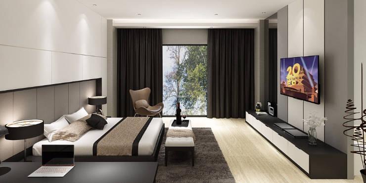 Dormitorios de estilo  de Lighthouse Architect Indonesia, Moderno