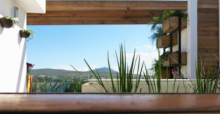 Roof Helena: Terrazas de estilo  por MEXIKAN CURIOUS