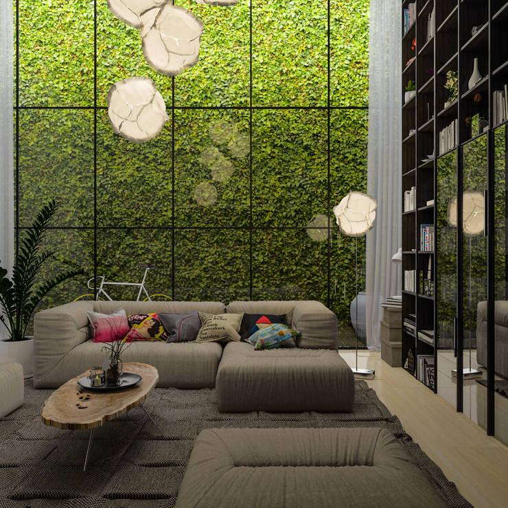 Diseño de Interior: Salas / Living.: Salas de estilo  por Mexikan Curious