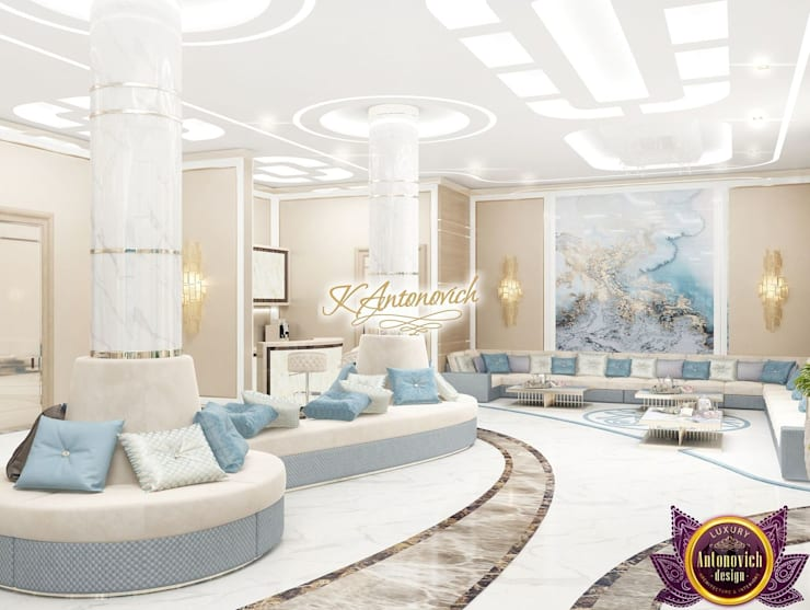 ​Dream interior from Katrina Antonovich:  Corridor & hallway by Luxury Antonovich Design, Modern