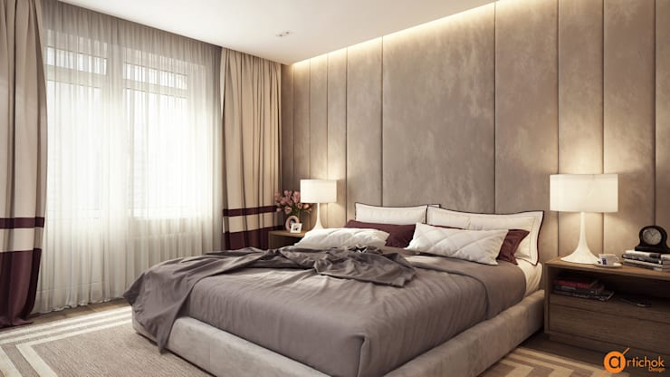 Дизайн спальни для родителей в стиле контемпорари: Спальни в . Автор – Art-i-Chok