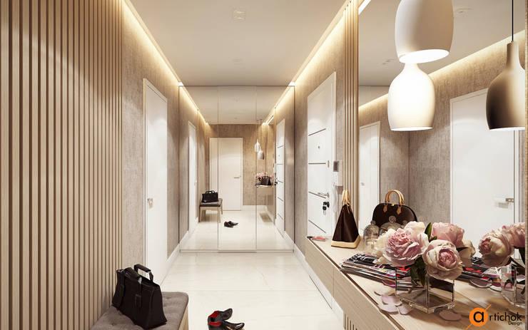 Дизайн интерьера коридора в бежевом цвете: Коридор и прихожая в . Автор – Art-i-Chok