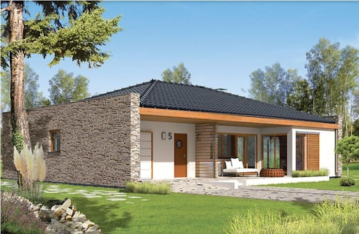 Casas Prefabdicada El proyecto Marlon II de FHS Casas Prefabricadas Moderno Aluminio/Cinc
