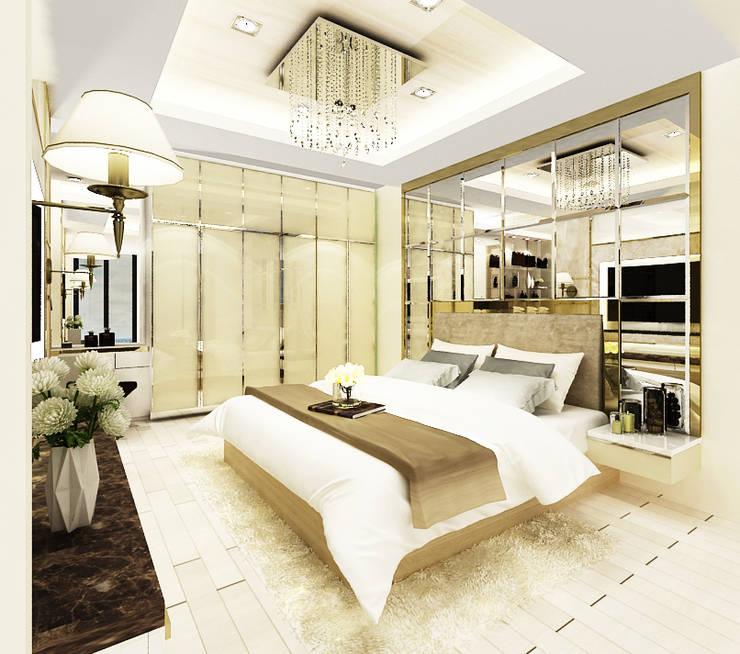 Dormitorios de estilo  por บริษัท พระนคร เดคคอเรท จำกัด