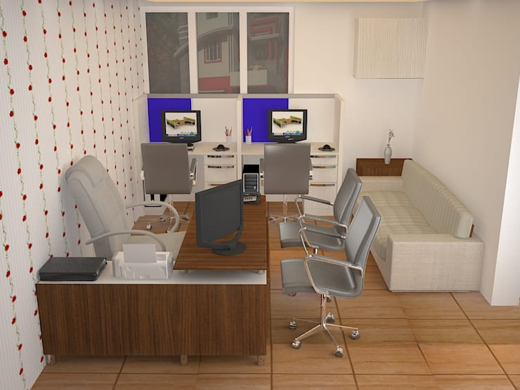 Office Interior:   by RID INTERIORS