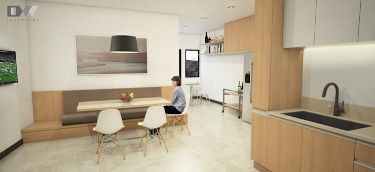 Nook Area: minimalistic Kitchen by DW Interiors