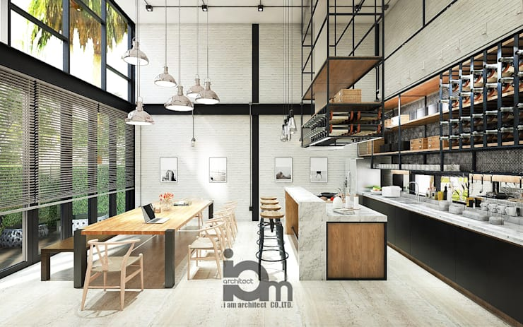 Loft white:   by i am architect CO.,Ltd.