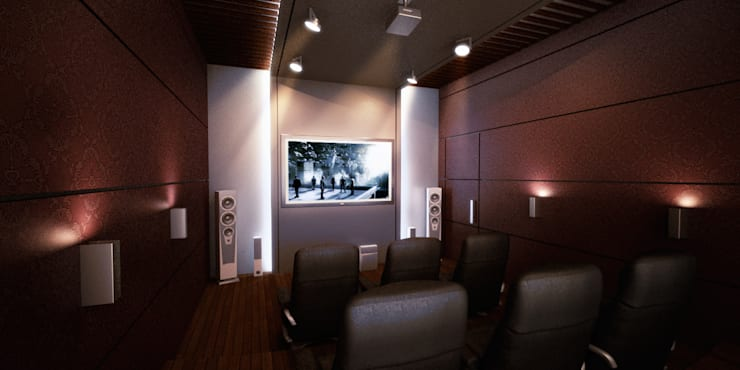 mediterranean Media room by SPACES Architects Planners Engineers