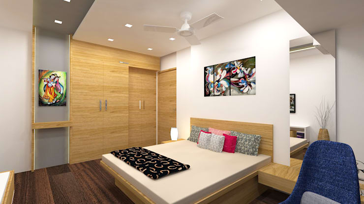 Bhatt's Residence: asian Bedroom by Midas Dezign
